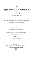 The History of Woman in England  and Her Influence on Society and Literature  from the Earliest Period PDF
