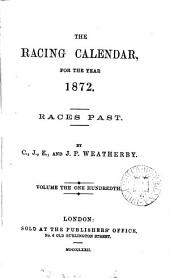 the racing calendar, for the year 1872.