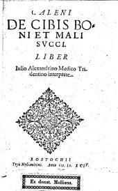 De cibis boni et mali succi Liber