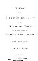 Journal of the House of Representatives of the State of Ohio PDF