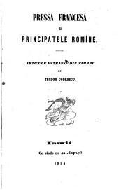 Pressa francesâ şi Principatele romîne