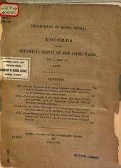 Records of the Geological Survey of New South Wales: Volume 1, Issue 3