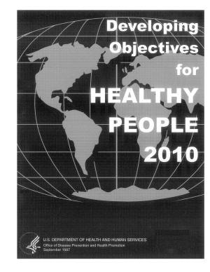 Developing Objectives for Healthy People 2010 PDF