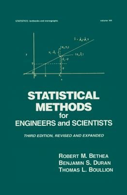 Statistical Methods for Engineers and Scientists  Third Edition  PDF