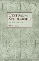 Textual Scholarship PDF