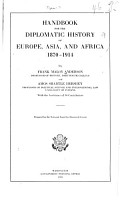 Handbook for the Diplomatic History of Europe  Asia  and Africa  1870 1914 PDF