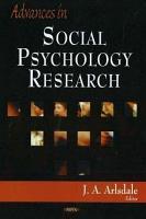 Advances in Social Psychology Research PDF