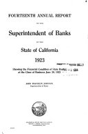 Download Annual Report of the Superintendent of Banks of the State of California Book