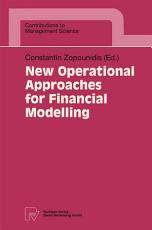 New Operational Approaches for Financial Modelling PDF