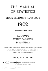 The Manual of Statistics: Stock Exchange Hand-book ...., Volume 24