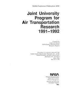 Joint University Program for Air Transportation Research  1991 1992 PDF