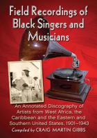 Field Recordings of Black Singers and Musicians PDF