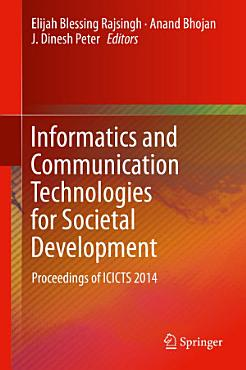Informatics and Communication Technologies for Societal Development PDF