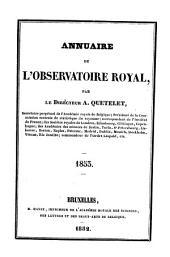 Annuaire de l'Observatoire Royal de Bruxelles: Volume20
