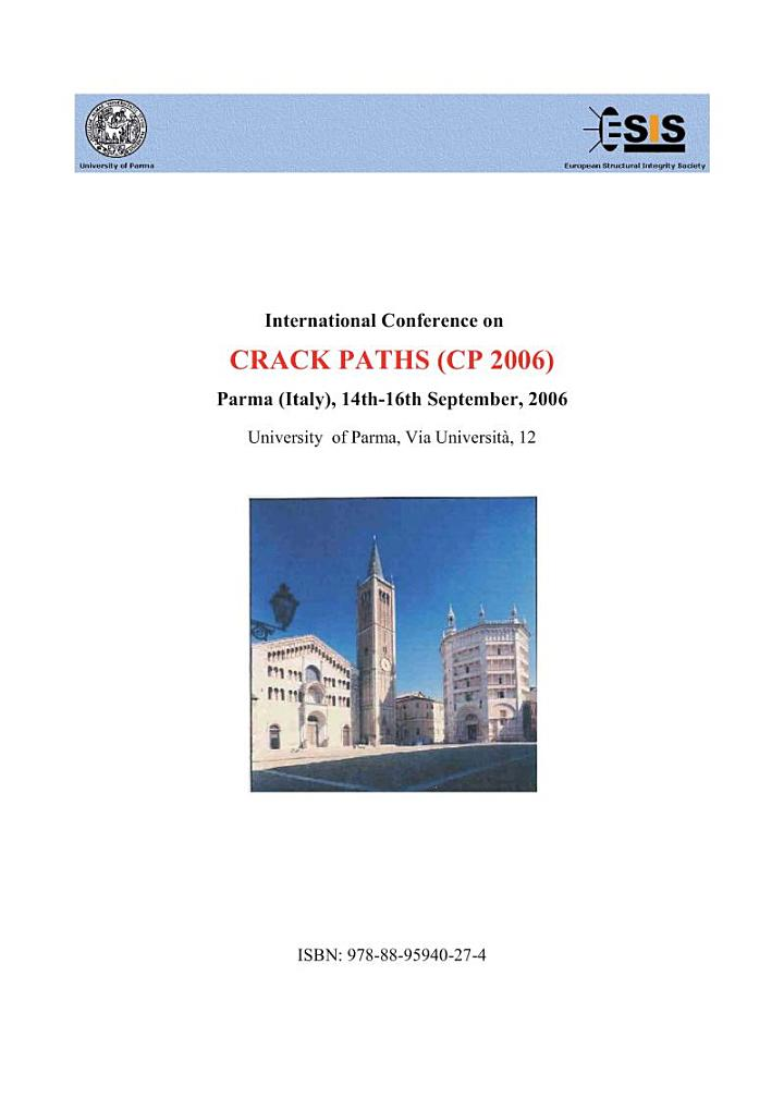 Proceedings of Crack Paths (CP 2006), Parma Italy 2006