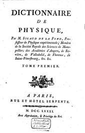 Dictionnaire de physique: Volume1