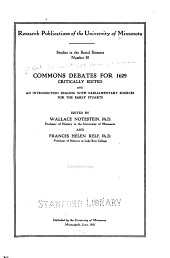 Commons Debates for 1629: Volumes 10-11