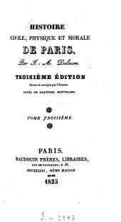 Histoire civile, physique et morale de Paris: Volume3