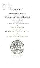 Abstract of the Proceedings of the Virginia Company of London, 1619-1624: Volume 8