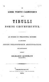De libri tertii carminibus quae Tibulli nomine circumferuntur