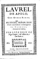 Laurel de Apolo,: con otras rimas ...