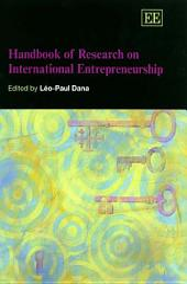 Handbook of Research on International Entrepreneurship