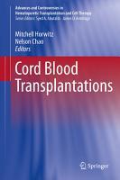 Cord Blood Transplantations PDF