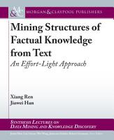 Mining Structures of Factual Knowledge from Text PDF