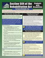 Section 504 of the Rehabilitation Act  Students with Disabilities PDF