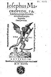Josephus, fabula sacra...