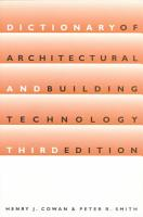 Dictionary of Architectural and Building Technology PDF