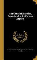 CHRISTIAN SABBATH CONSIDERED I PDF