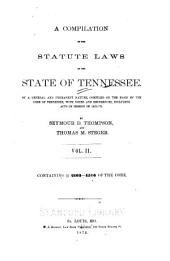 A Compiliation of the Statute Laws of the State of Tennessee: Sec. 2162-4516