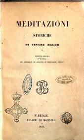 Meditazioni storiche di Cesare Balbo