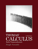Thomas  Calculus Early Transcendentals  Single Variable