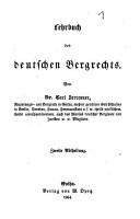 Lehrbuch des deutschen Bergrechts PDF