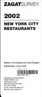 New York Restaurant Survey 2002 PDF