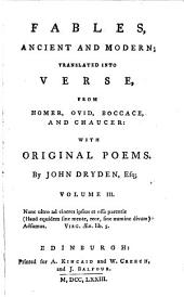 Original poems by John Dryden, Esq: Volume 3