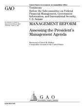 Management reform assessing the President's management agenda : testimony before the Subcommittee on Federal Financial Management, Government Information, and International Security, U.S. Senate