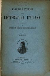 Giornale storico della letteratura italiana: Volume 5