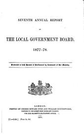 Annual Report of the Local Government Board ...: Volume 7