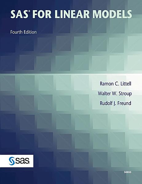 Sas For Linear Models Fourth Edition