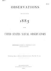 Astronomical, Magnetic and Meteorological Observations Made at the United States Naval Observatory: Part 1