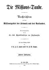Missions-Taube: Volume 10
