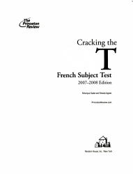 Cracking The Sat French Subject Test 2007 2008 Book PDF
