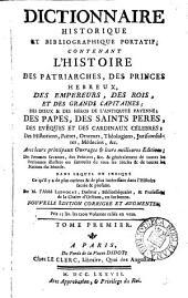 Dictionnaire historique-portatif: Volume1