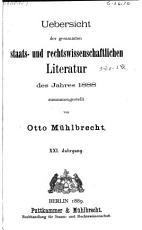 Uebersicht der gesammten staats und rechtswissenschaftlichen litteratur     PDF