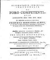 Dissertatio juridica inauguralis de foro competenti: Volume 1