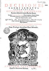 Decisiones sacri senatus Pedmontani ab Octaviano Cacherano...