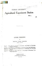 Winter steer feeding 1906-7-1907-8: Volumes 123-135